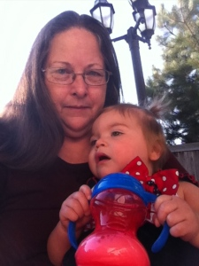 Leslie with grandaughter, Pearl.