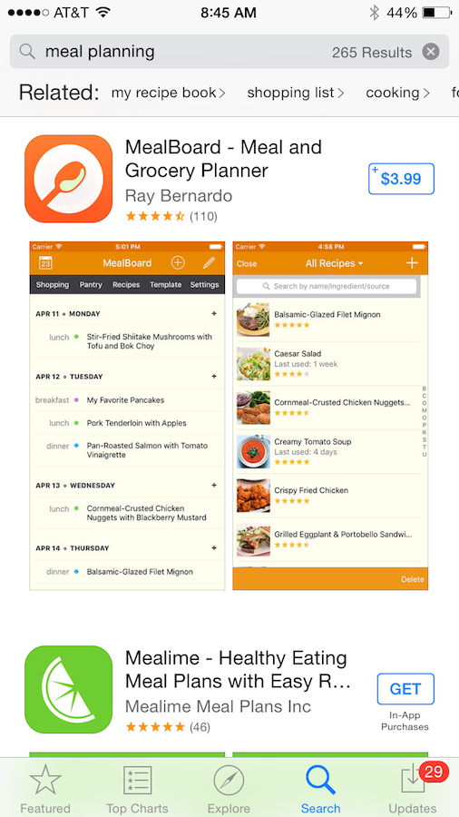 Meal Planning Apps for IOS
